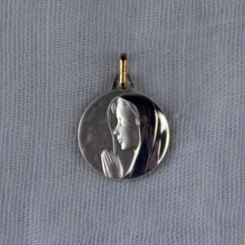 Médaille argent Vierge mains jointes