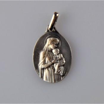 Médaille argent Vierge à l'enfant