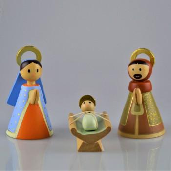 Sainte famille en bois doré