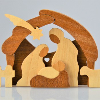 Mini crèche en bois