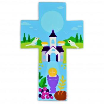 Croix avec une église et la...
