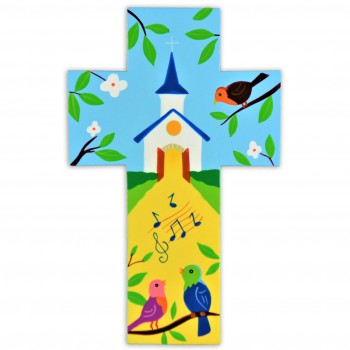 Croix peinte / Eglise et...