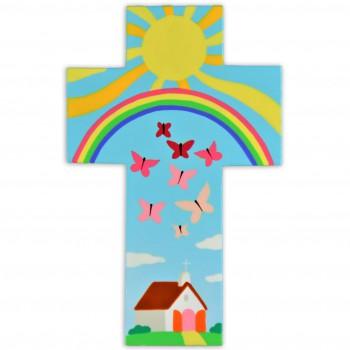 Croix avec une église...