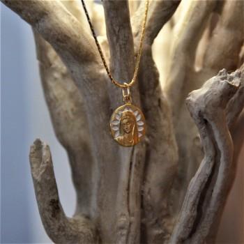 Médaille Vierge aux pétales