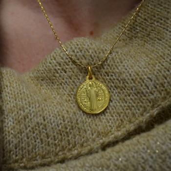 Médaille Saint Benoît en Plaqué OR