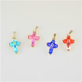 Petit croix en cristal de...